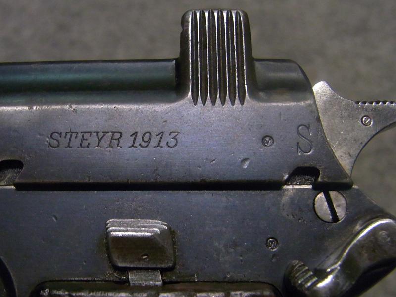 pistola Steyr Hahn 1912 calibro 9 steyr