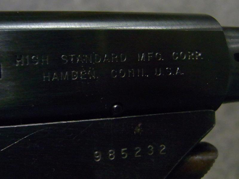 pistola High Standard 102 Olympic Citation calibro 22 corto