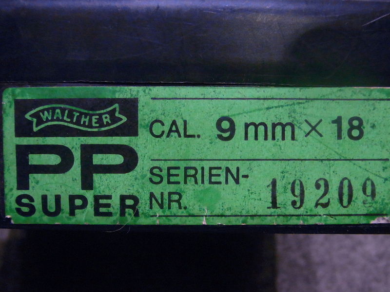 pistola Walther PP Super calibro 9 x 18 con scatola