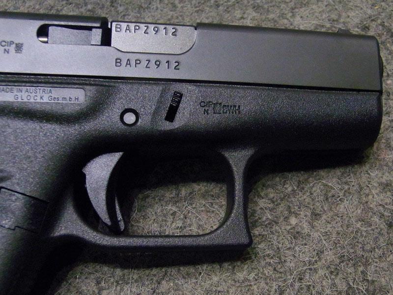 pistola Glock 42 calibro 9 corto