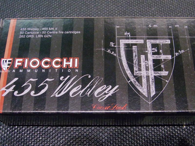 munizioni Fiocchi 455 Webley