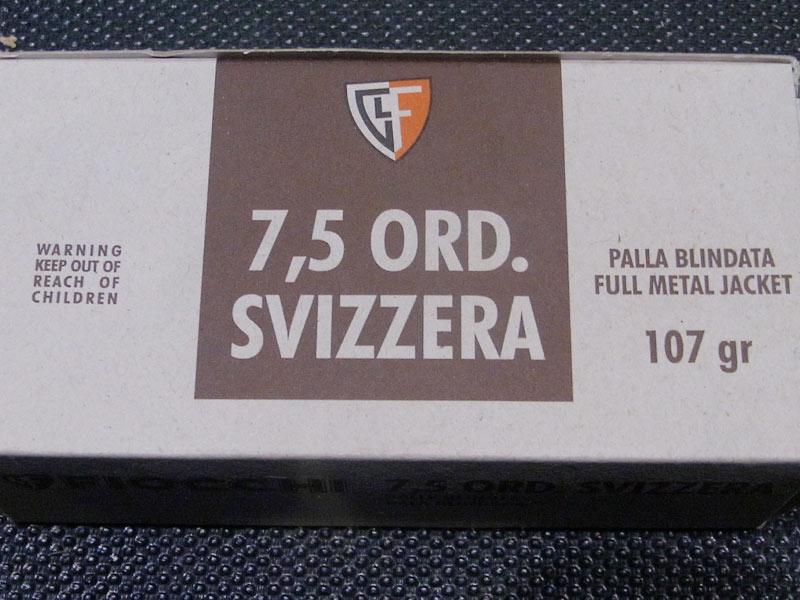 munizioni Fiocchi 7,5 Ordinanza Svizzera