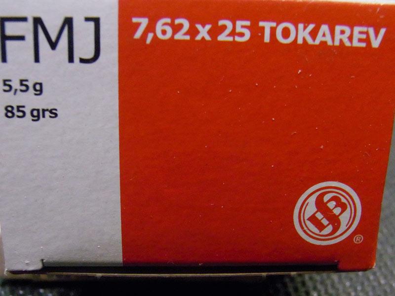 munizioni S&B calibro 7.62 tokarev