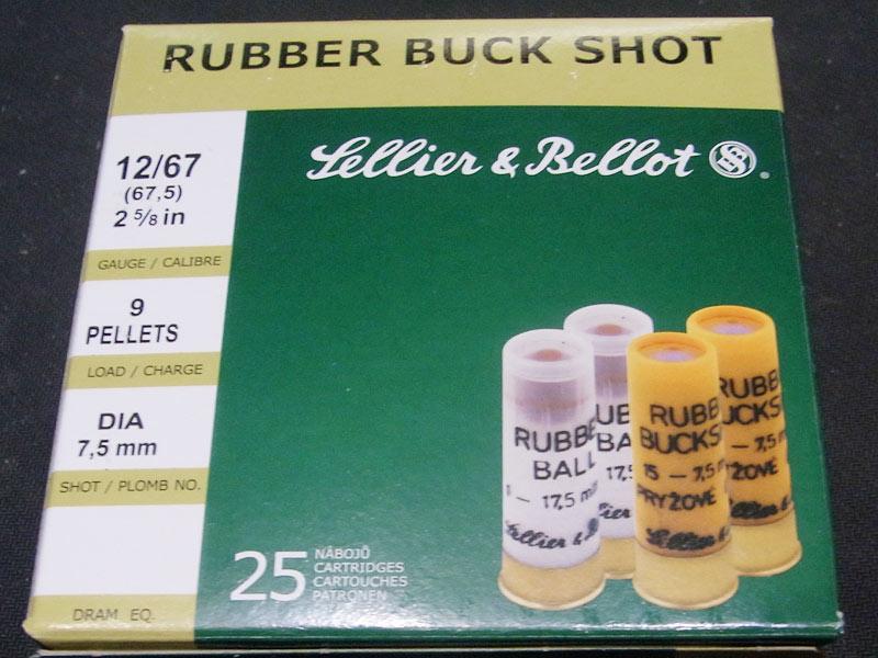 munizioni S&B non letali pallettoni gomma