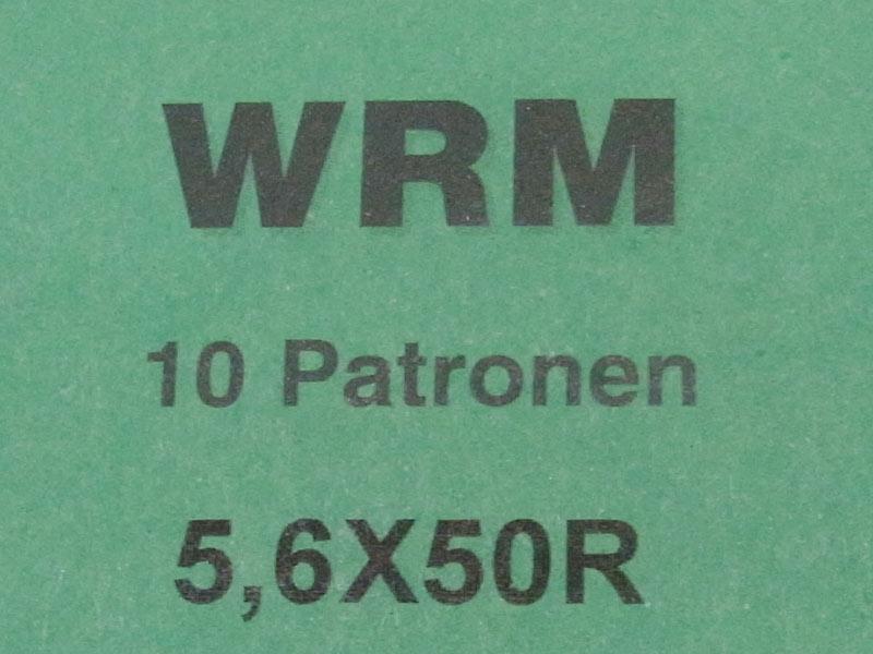 munizioni WRM calibro 5,6 x 50