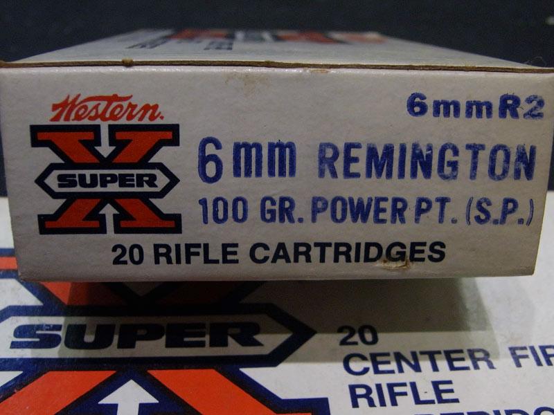 munizioni Winchester calibro 6 mm