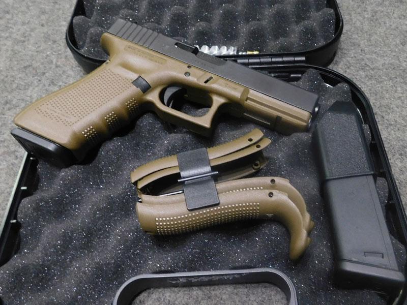 pistola Glock 17 Gen 4 FDE calibro 9 x 21