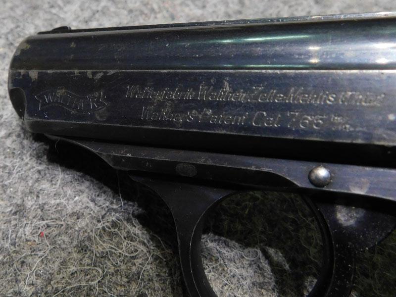 Pistola Walther PPK Zella Mehlis sicura 90°