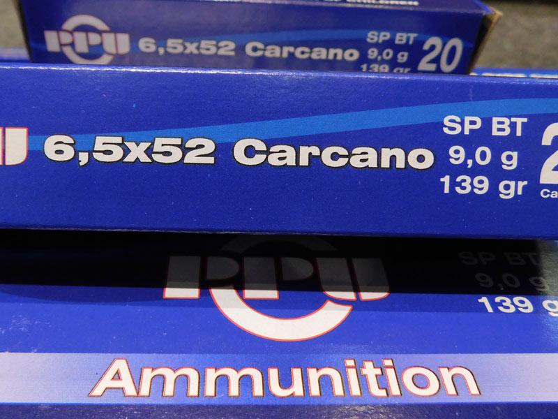 munizioni calibro 6,5 carcano