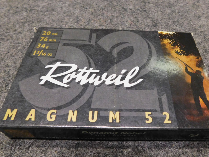 cartucce Rottweil 20 magnum