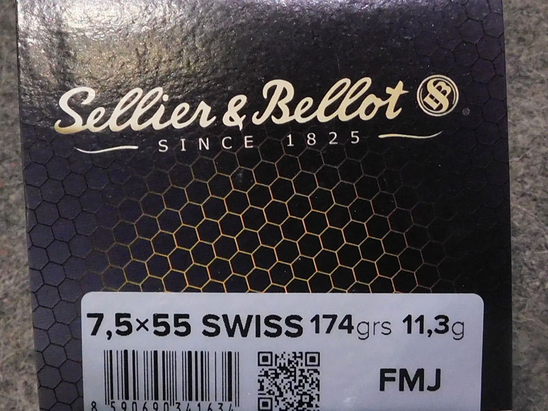 munizioni S&B 7,5 x 55
