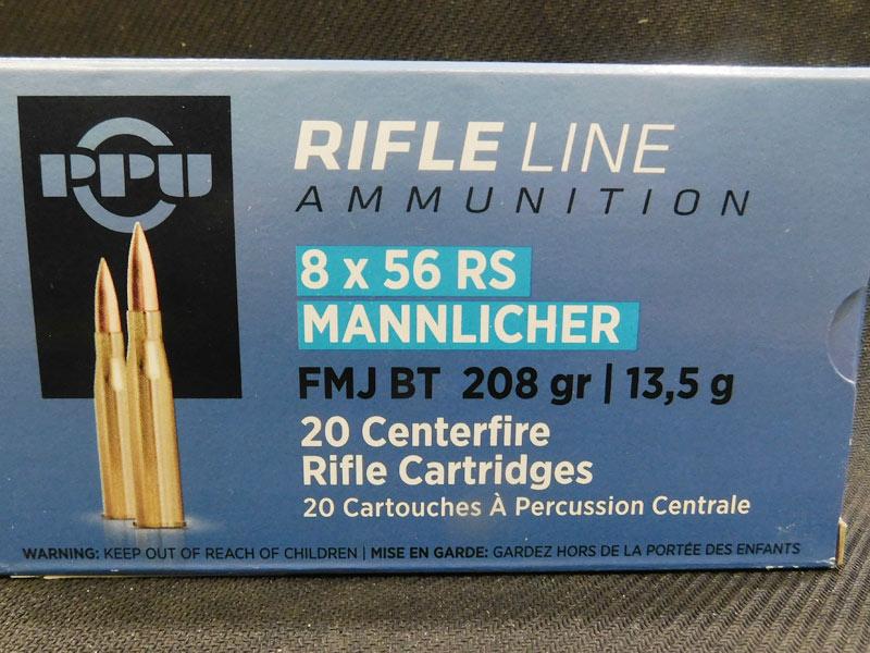 munizioni  8 x 56 R
